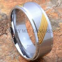 Titanium Wedding Band 14k Gold Golf Mens Ring Size 6-13