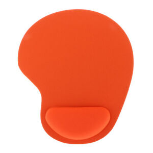 Mouse-Mat-Wrist-Gel-Rest-Support-Pad-for-PC-Laptop-Computing-Rubber-Orange