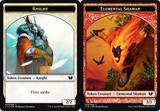 Token - Knight // Elemental Shaman X4 (Commander 2015) MTG (NM) *CCGHouse* Magic