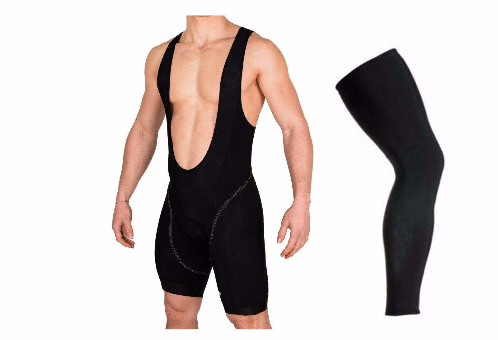 Panta corto felpato ciclismo + gambale termico felpato abbigliaSieto bici mtb