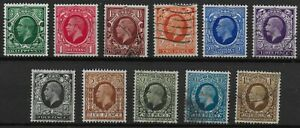 SG439-449. 1934 Photogravure Set. Fine Used With Fresh Colours.  Ref.01636