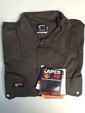 Lapco 7oz Flame Retardant Gray Work Shirt 2XL
