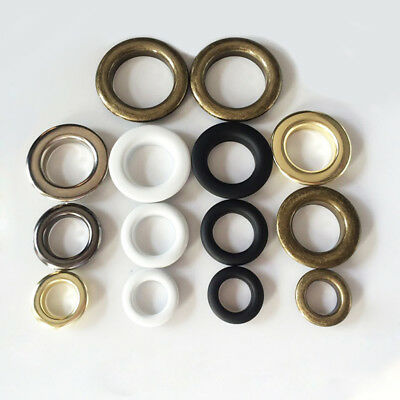50x Coloured Eyelet with Washer Leather Craft Repair Grommet 4//4.5//5//6//8//10mm