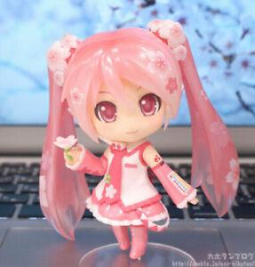 Anime Nendoroid 500# Hatsune Miku Sakura Miku PVC Action Figure Model Toy No Box