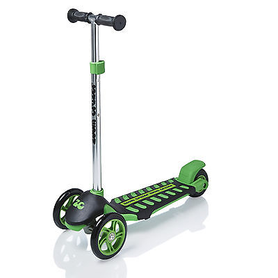Zoom Childrens/Kids 3 Wheel Mini Tri-Scooter Move'n Groove Ride-on Glider Green