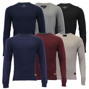 Mens-Jumper-Threadbare-Knitted-Cotton-Sweater-Half-Zip-Pullover-Top-Winter-New