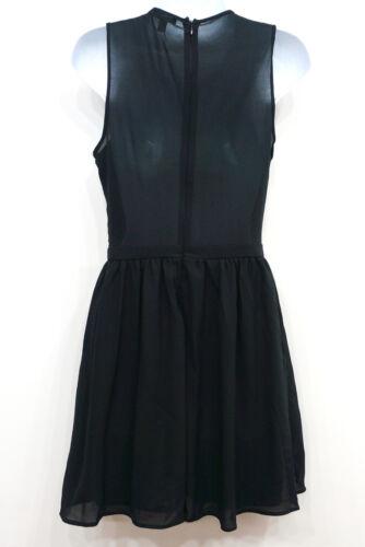 Seventeen Black Sleeveless Sequin Bodice Skater Party Dress Junior/'s