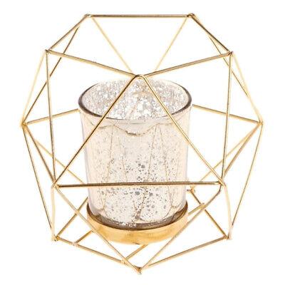 Metal Wire Hollow Geometric Tea Light Votive Candle Holder Wedding Favours