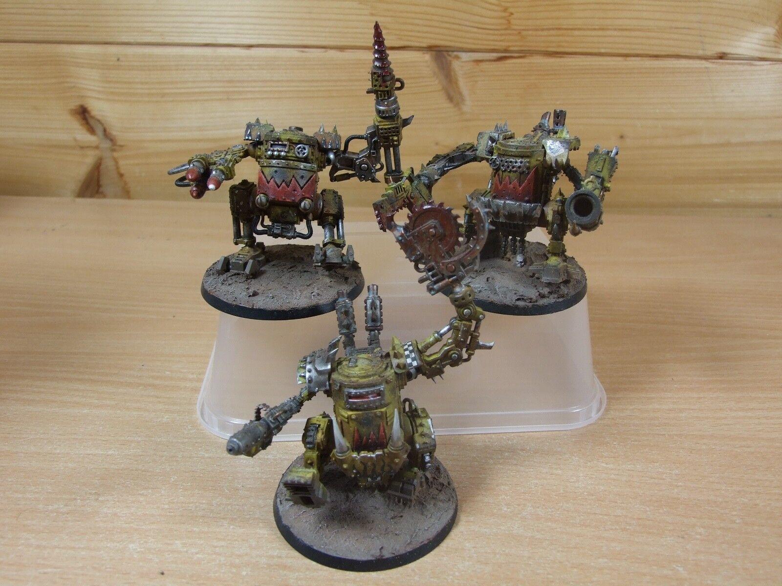 ordene ahora los precios más bajos 3 plástico bien bien bien pintados Warhammer Orko KILLA KANS (L)  todos los bienes son especiales