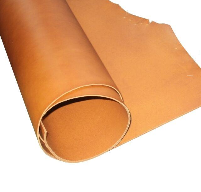 Lavorazioni con utensili in pelle artigianale 2MM spessore un livello Whiskey Tan pieno fiore Veg Tan in cuoio