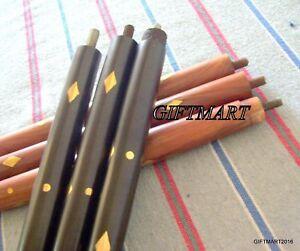 Enthousiaste Sans Poignée En Laiton & Bois Noir & Rouge Petit Design Bâton Canne Replica Hommes Cadeau-afficher Le Titre D'origine