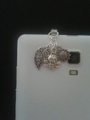 Bee Dangle Charm For Mobile Phone. Tablet. Ipad. Iphone. Dust Plug.
