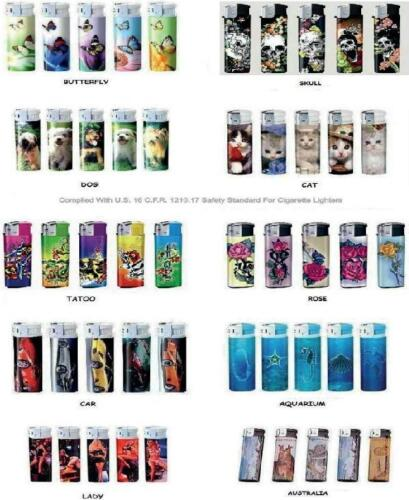 WHOLESALE-LOT-OF-ELECTRONIC-REFILLABLE-PATTERN-LIGHTER