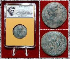 ROMAN EMPIRE COIN AUGUSTUS CARTHAGO NOVA APEX,SEMPILUM ON REVERSE