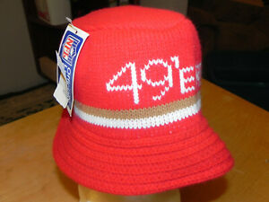 NOS DEADSTOCK NFL FOOTBALL SAN FRANCISCO 49ERS KNIT HAT 1970's / 80's?