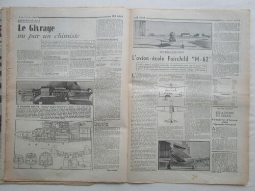 LES AILES 1939 944 SPITFIRE FAIRCHILD M-62 AVIATION ITALIENNE GIVRAGE 14 JUILLET