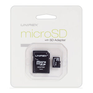 Unirex 8GB Micro SD Card with USB Reader and SD Adaptor | MSU-082