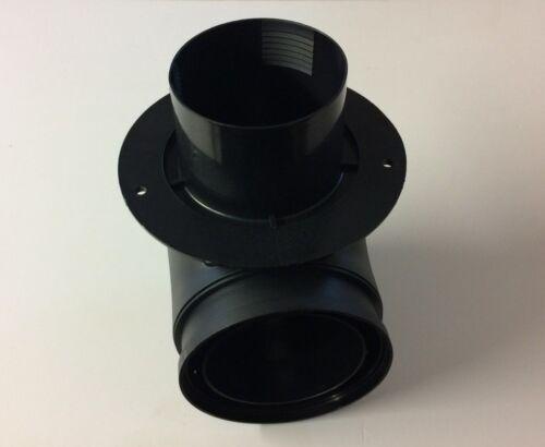 Truma Black Insulated Floor Elbow Piece For Caravan Blown Air Heating Pipe TIE1