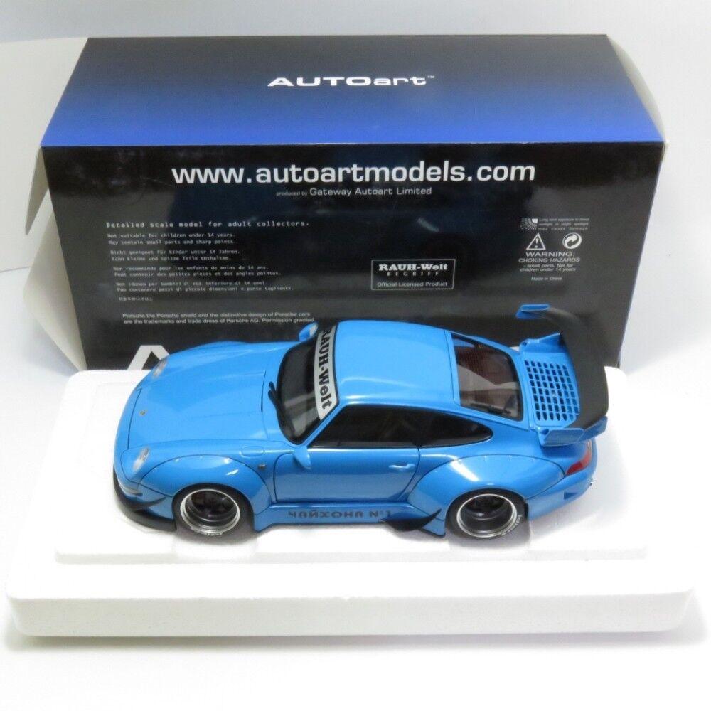 AUTOart 1 18 RSF 993 Bleu ciel Pistolet métal roue Modèle Nouveau