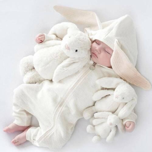 Newborn Baby Rabbit Ear Boy Girls Infant Romper Jumpsuit Bodysuit Outfits 0-18M