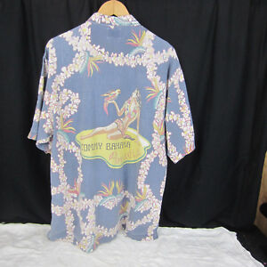 Tommy-Bahama-Vintage-Paradise-Mens-Hawaiian-Shirt-Size-Large-Bathing-Beauty