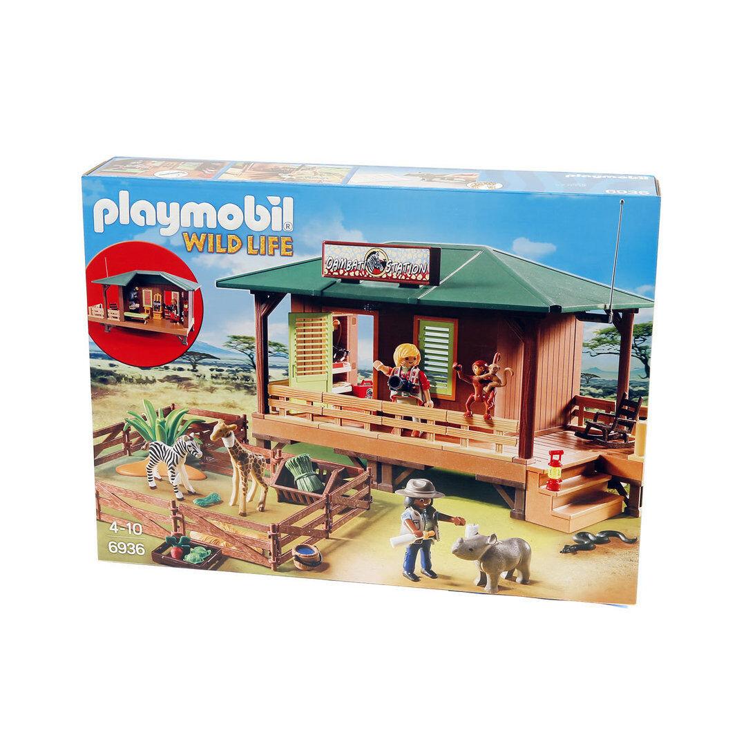 Playmobil Faune 6936 Rangerstation avec  élevage d'animaux Enceinte  da non perdere!