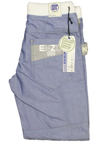 BOYS KIDS JEANS EZB292 LIGHT BLUE CUFFED LEG DESIGNER ALL SIZES 24-29 REDUCED