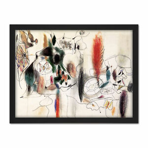 Gorky-Arshile-Composition-II-Expressionist-Painting-Large-Framed-Art-Print