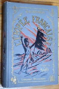 Georges-d-039-Esparbes-L-039-EPOPEE-FRANCAISE-1925-histoire-militaire-cartonnage-Giffey