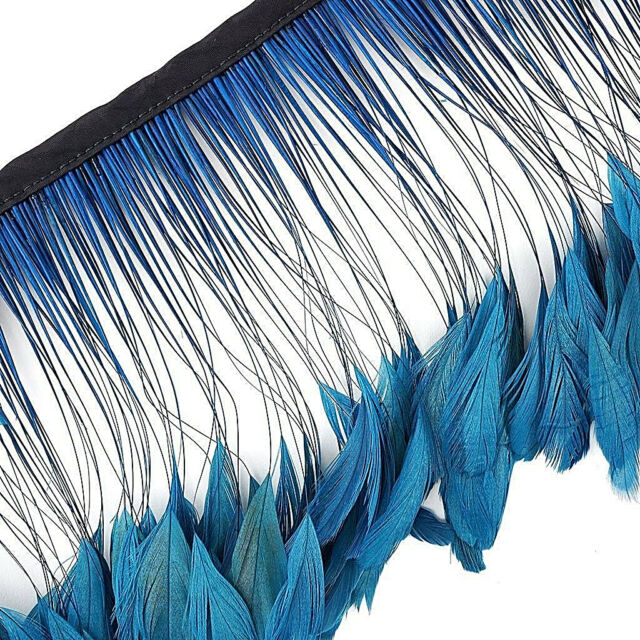 15 Pcs.Kelly Green Stripped Coque Rooster Feathers US Seller
