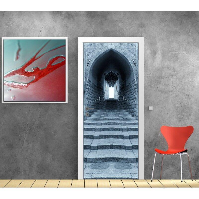 Poster Poster per Porta - Scala Pietra 619 Art Déco Adesivi