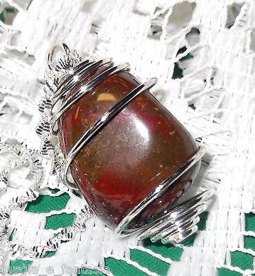 Collana con LABRADORITE cristalloterapia pietre mineral chakra argento zen verde