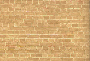 Weathered-Red-Brick-Wallpaper-Accessory-50cm-x-69cm-Tumdee-Dolls-House-DIY-611