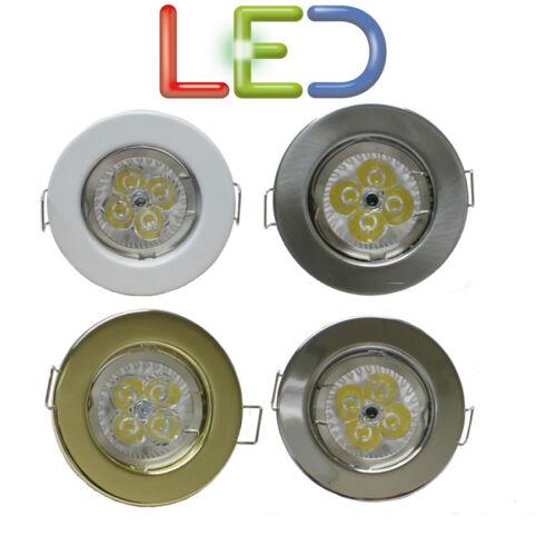 GU10 MAINS DOWNLIGHT 240 VOLT HALOGEN LED FIXED PRESSED SPOTLIGHT DOWNLIGHTER