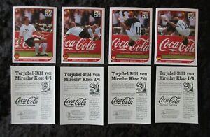 Panini-WM-2010-Klose-Salto-komplett-1-4-Coca-Cola-Torjubel-Sticker-WC-10