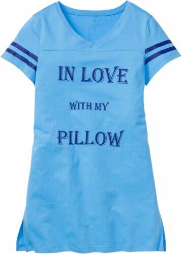 Gr.36//38 Damen Nachthemd NEU blau bedruckt