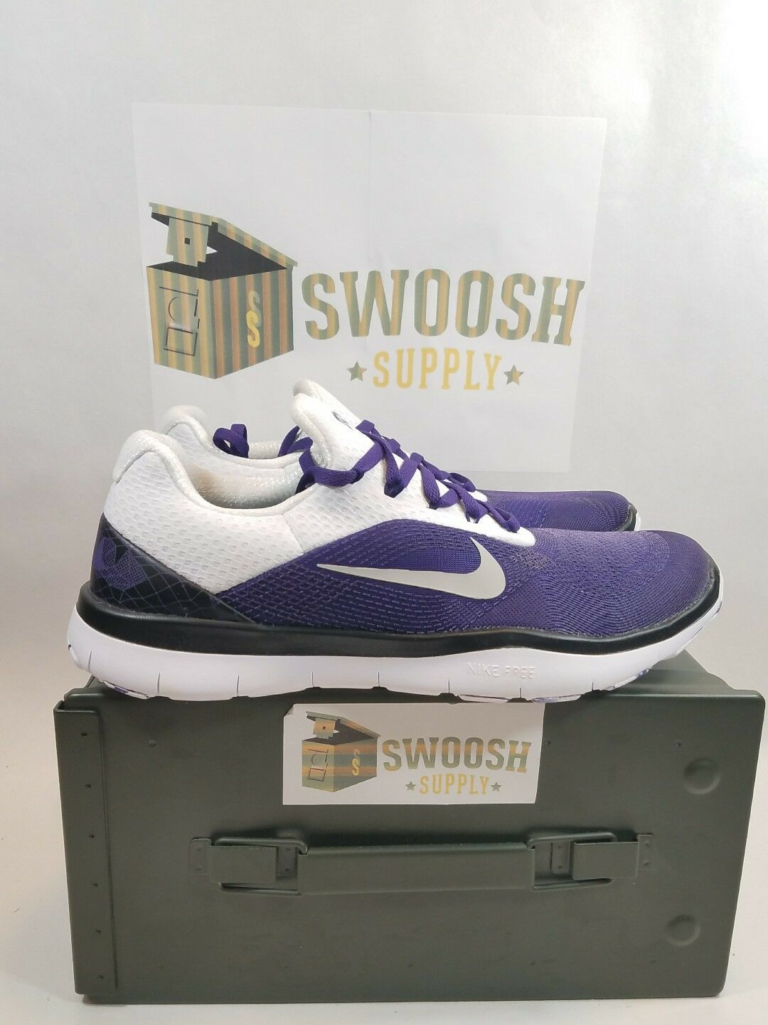 Nike TCU Horned Frogs Free Trainer V7 Week Zero Shoes AA0881-501 Size 9 Uomo