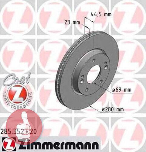 Zimmermann Coat Z Bremsscheiben 280mm belüftet Vorderachse