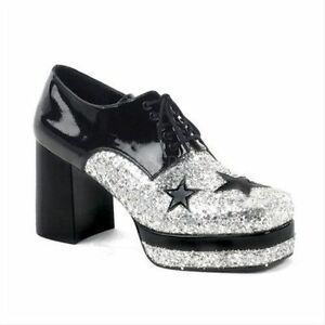 7854451aab4f Silver Black Pimp Daddy Party 70s KISS Disco 80s Rock Star Platform ...