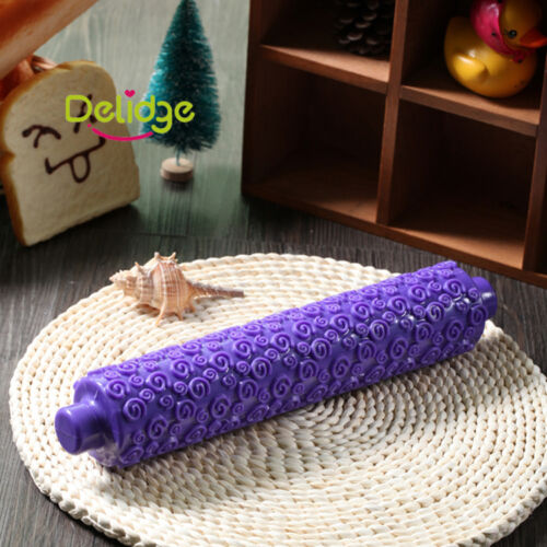 Gum Paste Rolling Pin Embossed Sugarcraft Tools Cake Making Embossing Decorate