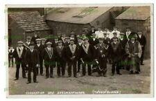 POSTCARD ODDFELLOWS SKELMANTHORPE CORONATION DAY HUDDERSFIELD REAL PHOTO 1911