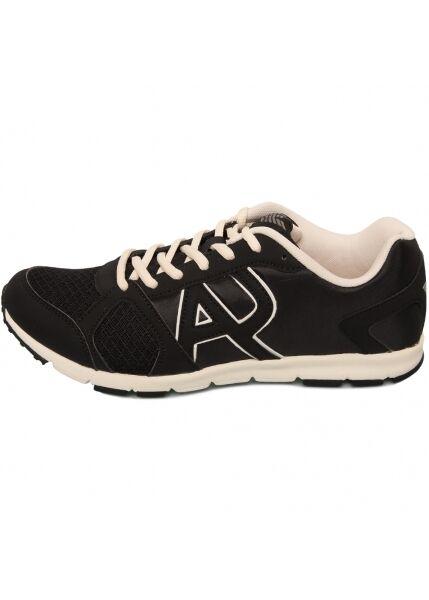 Armani Jeans Mens Black & White Lightweight Runner Sneaker