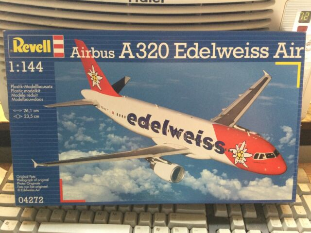 Revell 1/144 Airbus A320 Edelweiss Air Plastic Model Kit