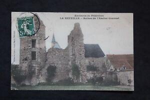 Tarjeta-Postal-CPA-la-Neuville-Ruinas-De-el-Antiguo-Convento