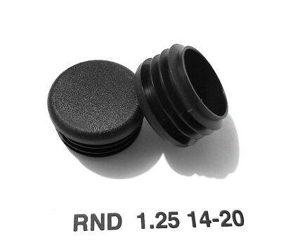 """Round 1-1//4/"""" 1.25/"""" 14-20 Gage Black Tubing End Plugs Plastic Insert Caps 4"""