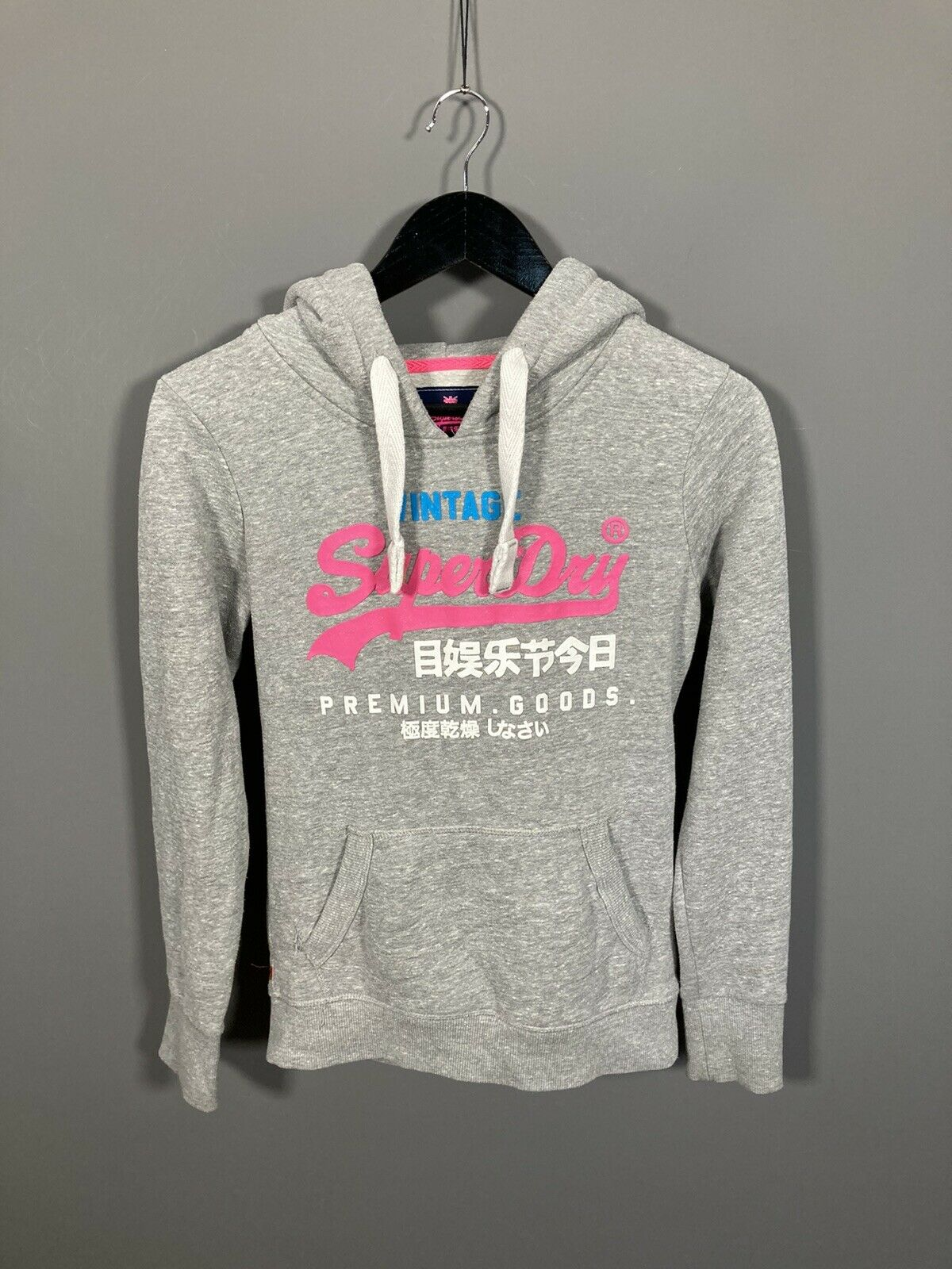 SUPERDRY Hoodie - Size Small - Grey - Great Condition - Women's