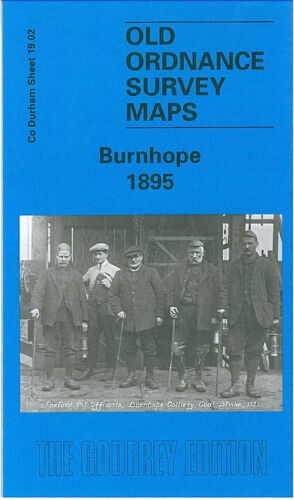 OLD ORDNANCE SURVEY MAP BURNHOPE 1895 HOLMSIDE HALL MORROWEDGE QUARRY SOUTH MOOR