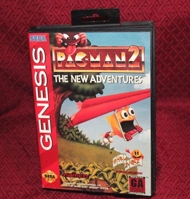 Pac-Man 2 The New Adventures Sega Genesis COMPLETE CIB Free Shipping Rare
