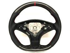 Mercedes AMG w204 C63 Black leathe carbon RED ring steering wheel 08~10