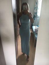 Boohoo Side Split Tight Maxi Dress Size 10